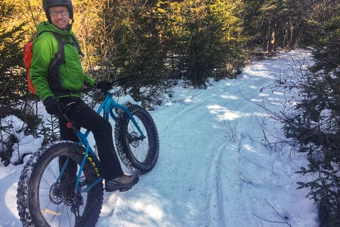 John McNair of Outdoor Elements in Sussex, on a trail in Fundy National Park.