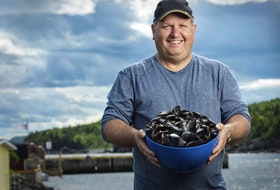 Juan Roberts of Triton, NL, has been growing mussels for years. Three years ago he started the first oyster farm in Newfoundland and Labrador.