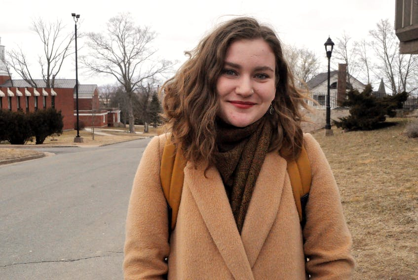 """Ellen Torrie is a fourth-year musical therapy student at Acadia. She says Rick Mehta's comments on the Truth and Reconciliation Commission are """"tone-deaf, and insensitive."""""""