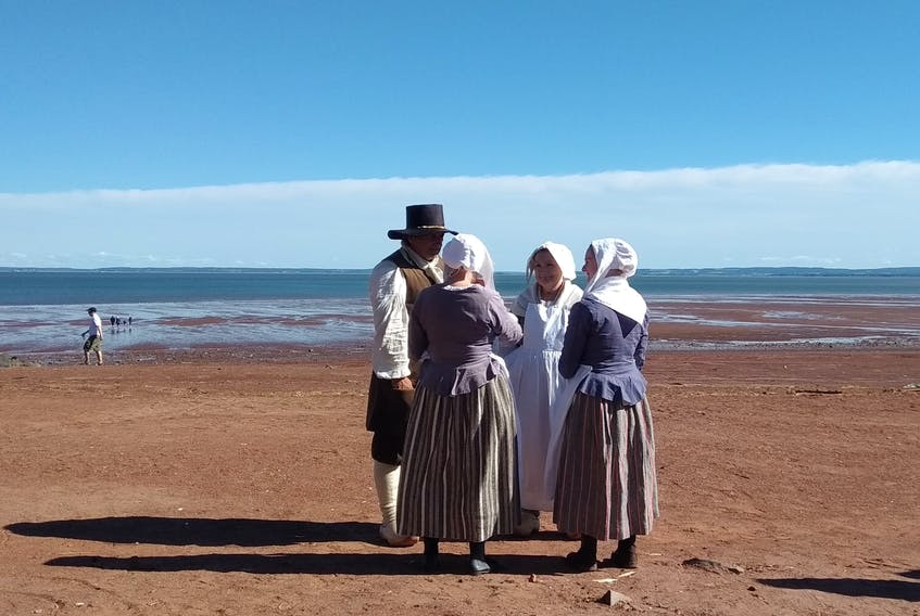 A new Heritage Minute depicting the Acadian expulsion was recently filmed at two Annapolis Valley locations: the Annapolis Royal Historic Gardens, and Houston's Beach, pictured above.