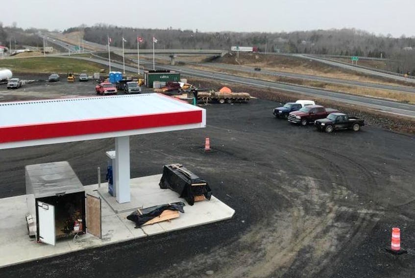 The jobsite where Brant Barnett is working as part of the Barnett Builders Ltd construction team building Glooscap Landing's new Esso gas station. His trailer, a white 14-foot Royal enclosed cargo trailer, was stolen from the site between 4:30 p.m. on Jan. 23 and 7:30 a.m. Jan. 24.