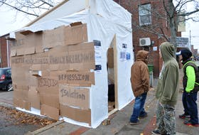 A makeshift shelter will be set up near 437 Main Street in Kentville as part of The Portal Youth Centre's Shelter Project campaign running from Nov. 30 to Dec. 2.