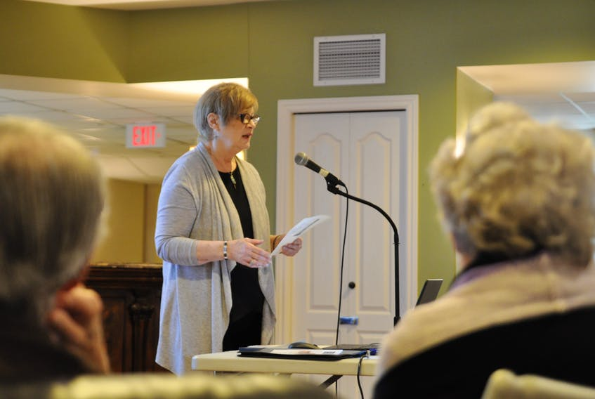 Pam McKinley is a co-ordinator and clinical social worker with the Mental Health and Addictions Services' Seniors Mental Health Team in the Annapolis Valley. She recently presented to seniors living at Kings Riverside Court in Kentville about risk factors relating to depression, and said an open dialogue is their biggest weapon against loneliness and ending stigma.