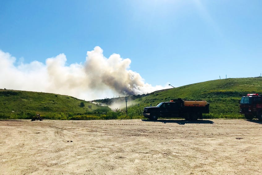 A fire at the Kaizer Meadow Solid Waste Management Facility in Lunenburg County is mostly extinguished following a day-long battle by firefighters against the stinky blaze.