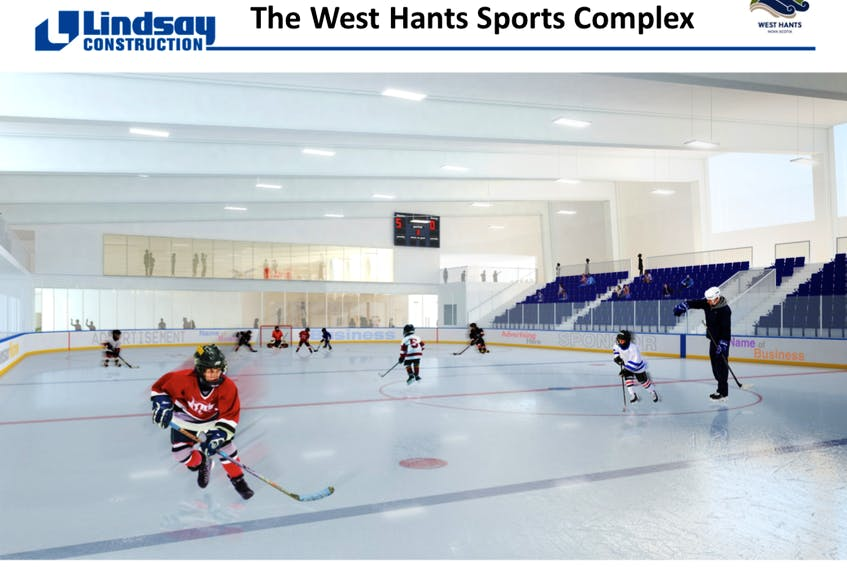 Artistic renderings showing Lindsay Construction's proposal for the West Hants Sports Complex.