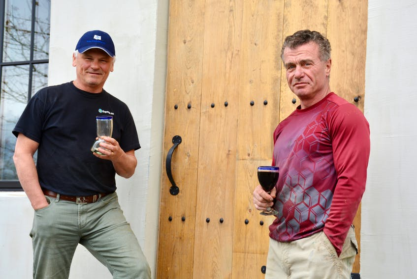 Steven (left) and Glenn Dodge, co-owners of Bent Bridge Winery have poured their blood, sweat and tears into almost every square inch of the building located on Highway 14, better known as the Chester Road.