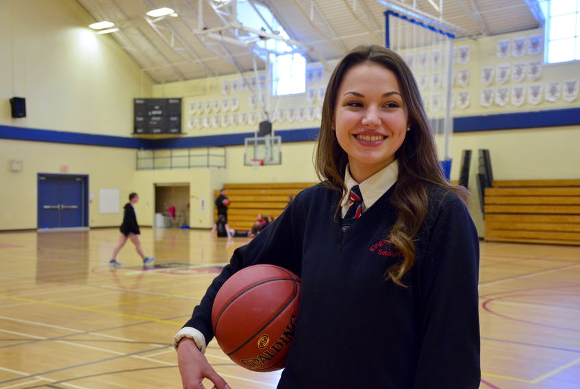Tessa Firth, 17, one of the captains of the King's-Edgehill School senior girl's basketball team, said she almost gave up on the sport until her coach encouraged her to give it another shot.