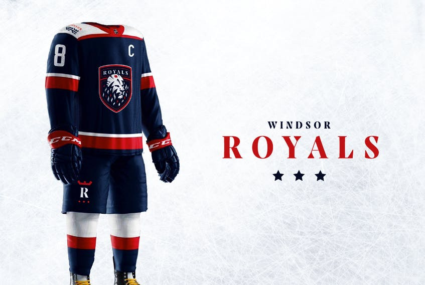 Buoy Marketing and Production redesigned the logo and uniforms for the Windsor Royals.