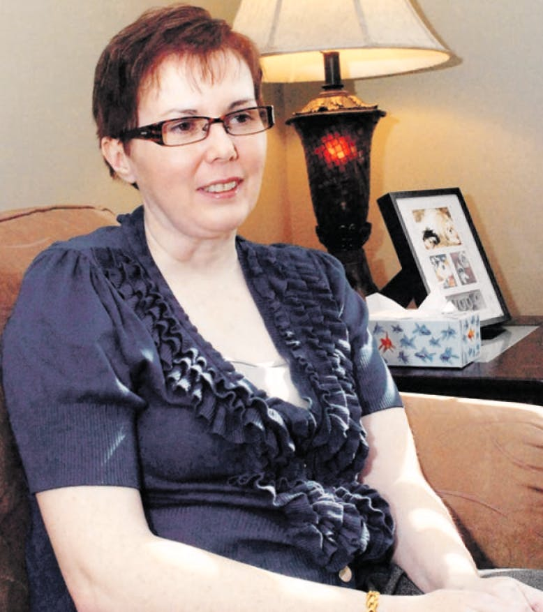 Kim Jackson is shown at her home in St. John's. Jackson suffers from a form of narcolepsy which includes attacks of cataplexy; a sudden paralysis of some or all of the muscles.