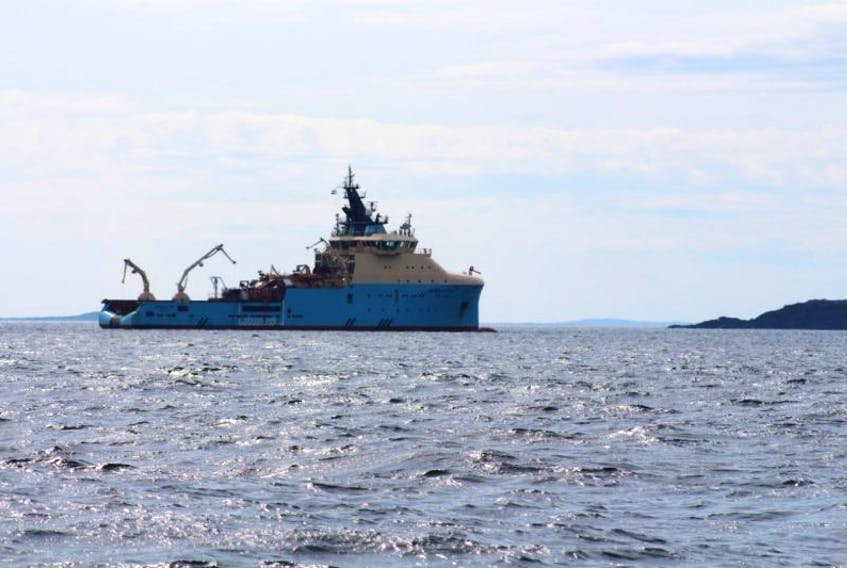 During the technical assessment on the Manolis L. in 2016 the Maersk Cutter was the base of operations for divers completing the assessment.