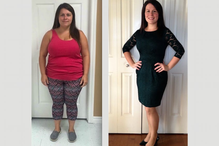 Natasha Farr — before and after on her weight loss journey. - Submitted Photos