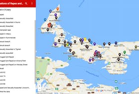Last year, Sarah Stewart-Clark made a public Google Map allowing victims of sexual assault and rape to put a pin point on the map, indicating where the incident occurred. SUBMITTED PHOTO