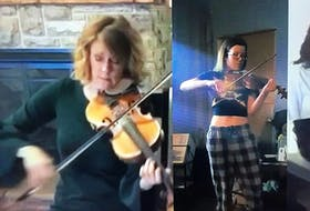 Natalie MacMaster plays along with a video Emily Tuck's Online Kitchen Party performance as part of the Nova Scotia Remembers virtual vigil in honour of the victims of a mass shooting. Tuck, 17, was one of those killed.