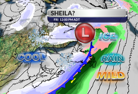 A developing weather system is expected to reach Newfoundland late Thursday.  There will be snow for some, but milder air ahead of the system will also produce a significant amount of rain and freezing rain. - WSI