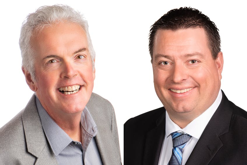 Progressive Conservative MLA Matthew MacKay, right, and Green candidate Matthew J. MacKay will be running against each other in the upcoming provincial election.