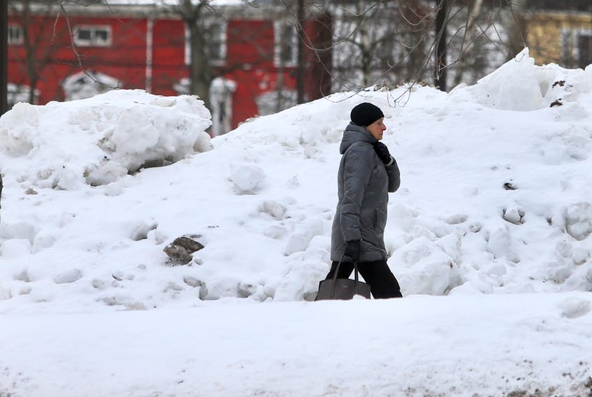 Some of the large snow piles around the province will be shrinking this week as warmer temperatures and rain are coming Tuesday morning Thursday.