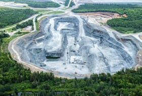 St. Barbara Ltd.'s Moose River gold mine is seen from the air. An economic impact analysis of the company's proposed Cochrane Hill gold mine has been released.