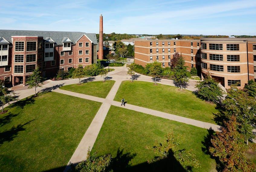 The quad between residences at Sackville, N.B.'s Mount Allison University.