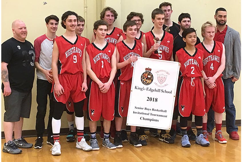 The NRHS Nighthawks' varsity boys basketball team combined good ball movement and strong defence to win the King's Edgehill Senior Boys Invitational over the weekend.