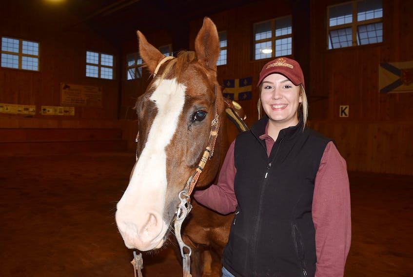 Jamie MacCallum with her horse Manny.