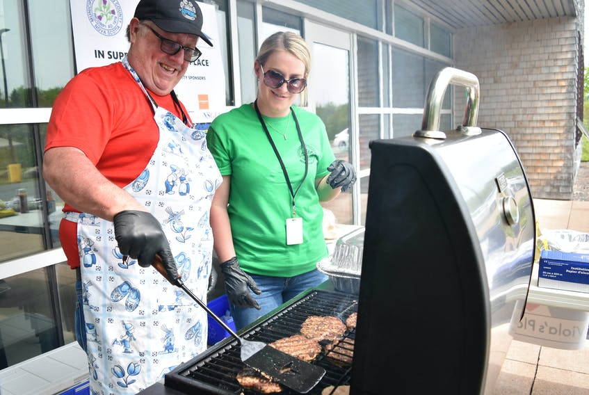 The Municipality of Pictou County held a fundraising barbecue on June 13, outside the county office building off the Pictou rotary.