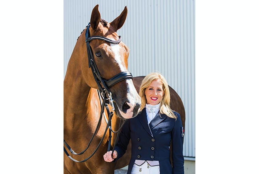Brittany Fraser-Beaulieu and her horse All In.