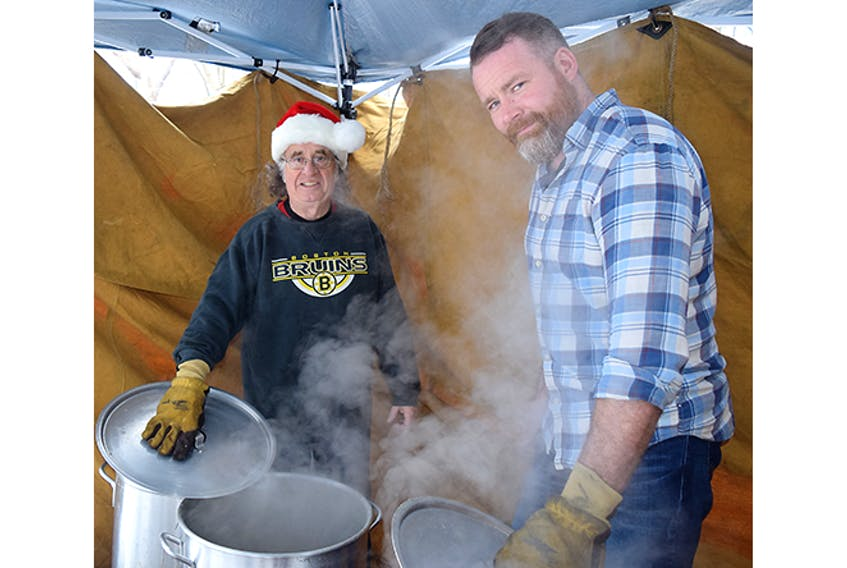 Approximately 200 people were expected for a turkey dinner at St. George's Anglican Church in New Glasgow on Monday.