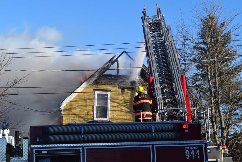 Firefighters responded to a house fire Wednesday afternoon that caused extensive damage to a home on Summer Street in New Glasgow.