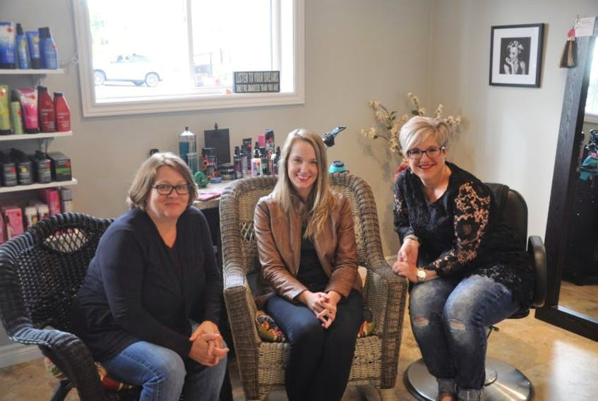 Donna Smith, left, Catherine Millen and Andrea MacEachern announced an initiative to help empower and boost the confidence of women staying at Tearmann House.