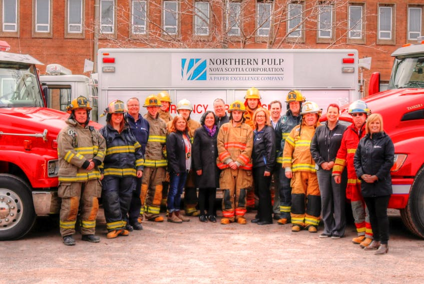 Paper Excellence recently donated $25,000 to the Abercrombie Fire Department to be used towards a new tanker truck.
