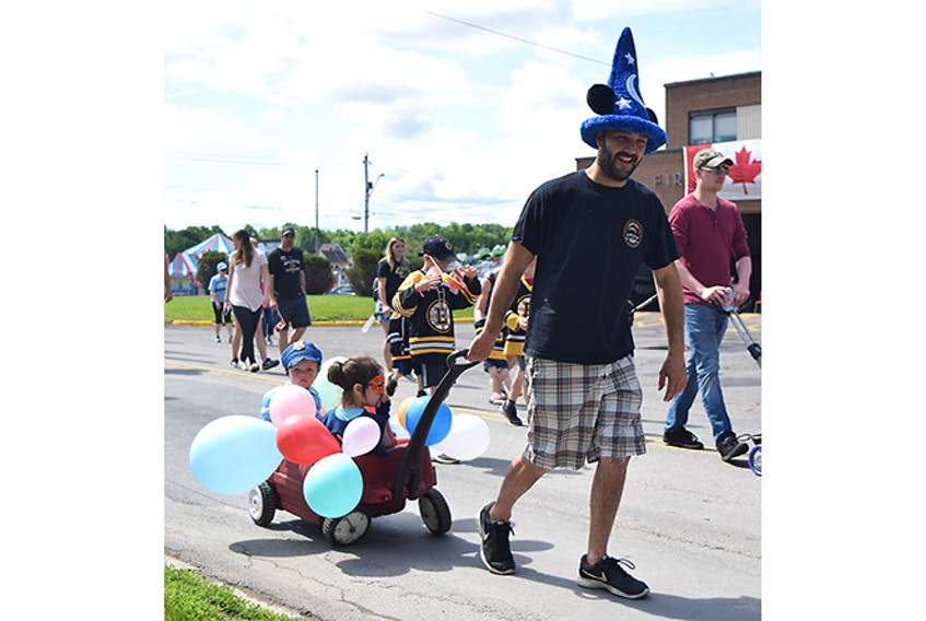 The rain held off for a while on June 29 as the Children's Parade was held in Westville, as part of Canada Day celebrations in the Town this weekend.