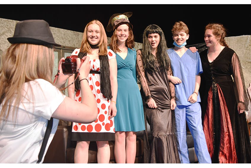 """Students at Pictou Academy were rehearsing this past week, getting ready to perform Meet the Creeps, a story about a """"loony, loveable"""" family living in a dilapidated mansion."""
