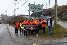 A protest to draw attention to criminal charges involved in the death of Mittens the cat and call for stricter animal cruelty laws was held in Port aux Basques Oct. 23. CONTRIBUTED BY JOAN CHAISSON