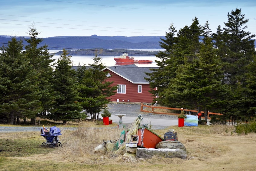 """Marilyn Crotty has been enjoying the beautiful weather at Anderson's Cove Road in Dildo, N.L. She said it was around 14 degrees Celsius and she enjoyed watching the ship """"steaming"""" in the harbour at the end of the day.  Thank you for the photo, Marilyn."""