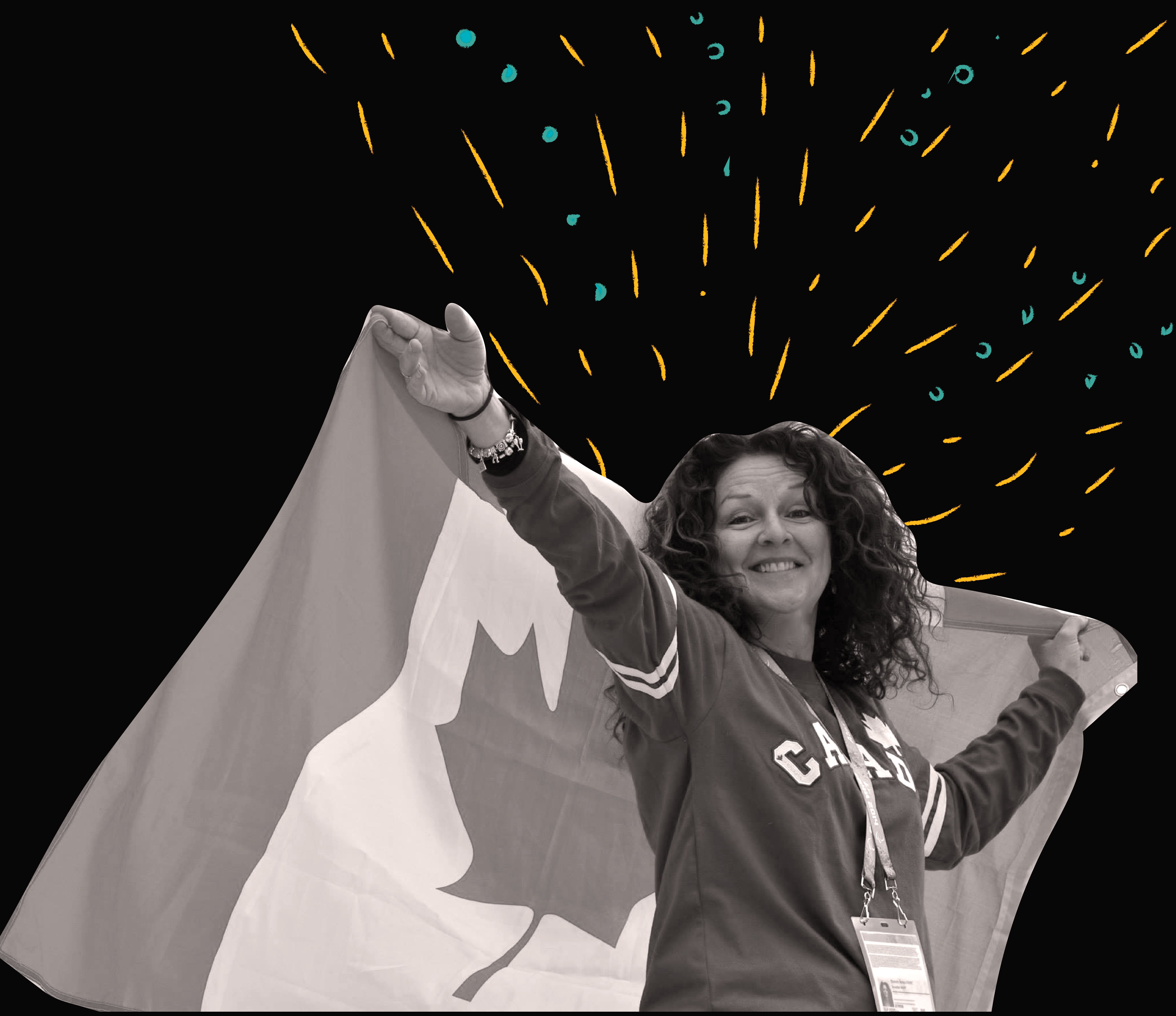 Betty and the Canadian Flag - Belle DeMont