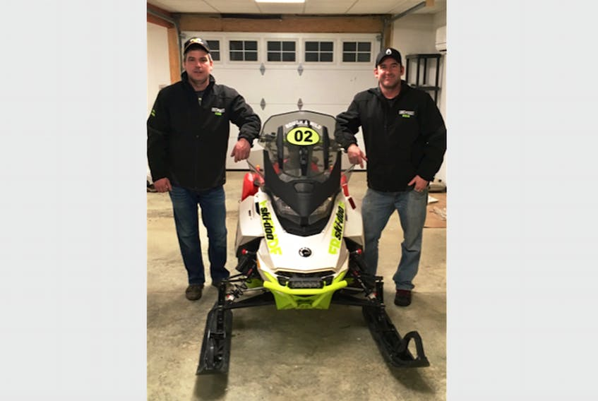 Boyd Lavers (left) and Tyson Ryan of Port Saunders will be racing as 'Rough and Wild' at Cain's Quest, starting in Labrador City on March 2. They've been preparing for the race for much of the past year.