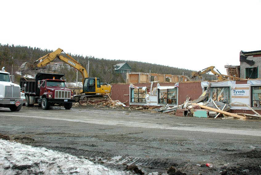 The demolition of Harriot Curtis Collegiate high school was being carried out last week to make way for seniors' housing.
