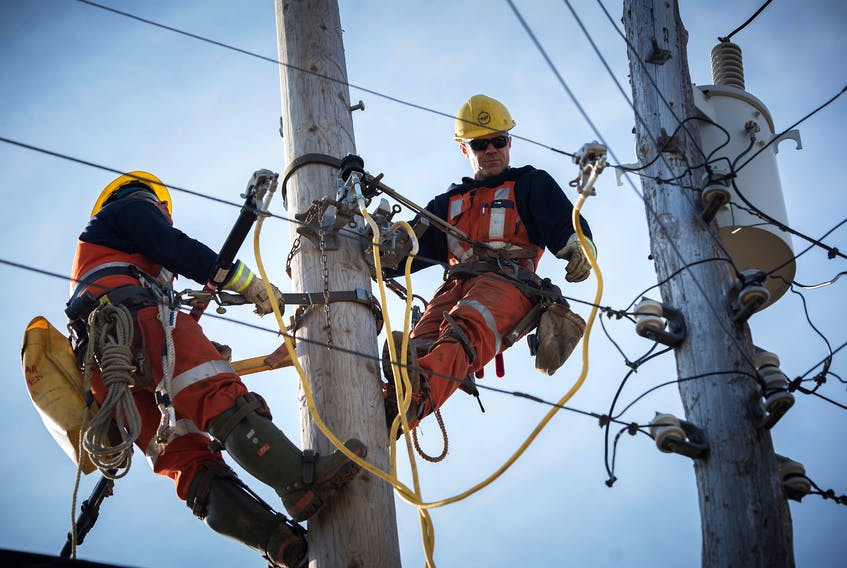 Photo of some Nova Scotia Power linemen in action.  (for file photo use) Contributed Photo