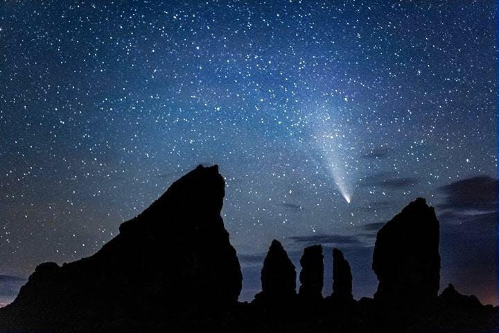 Barry Burgess was up early Monday morning to bid farewell to comet Neowise at Cape Split, N.S. This is one of the last times we can clearly view and photograph the comet as it rapidly fades from view to loop around our star. See you in 6,000 years, Neo!