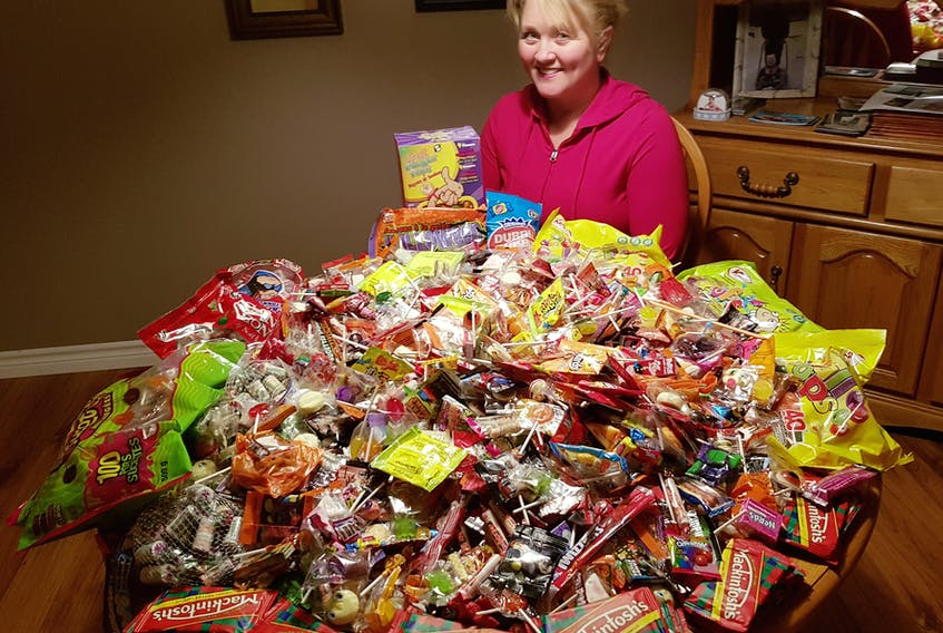 Judy Hamilton had been collecting Halloween candy to take to the Dominican Republic to share with children there. She is expected back in Springdale this week from the 10-day trip to assist the United for Kids Foundation.