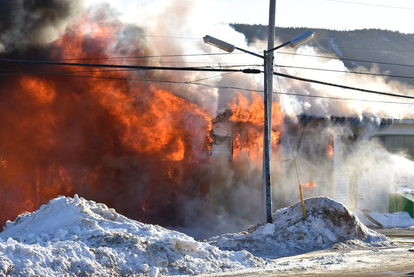 It became quickly apparent the fire that engulfed the building would destroy the depot.