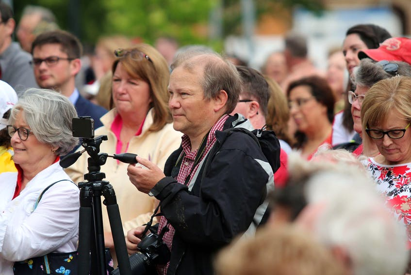 Nigel Armstrong is seen covering an event for The Guardian in this file photo.
