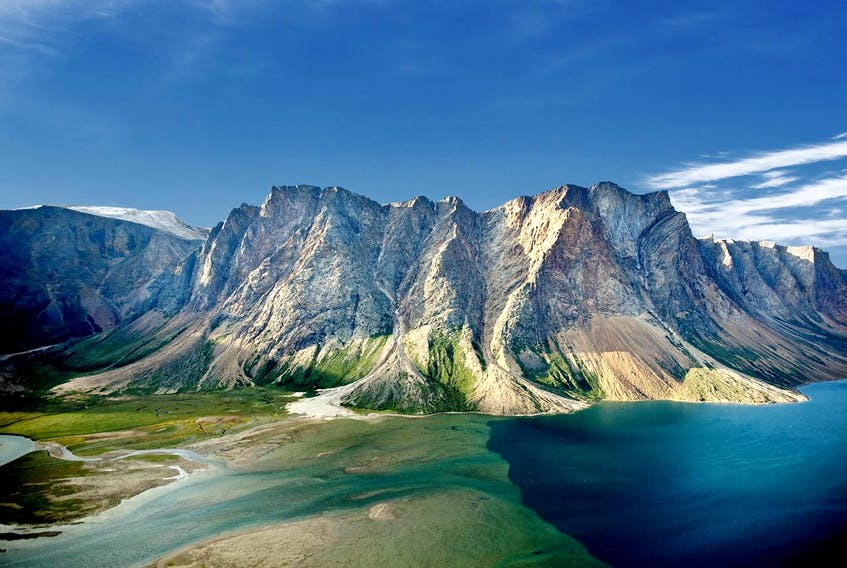 """""""Wouldn't it be easier for both of us if you just posted a pic of the Torngats (e.g., Mount Caubvick) with a note that they rise to a height of over 5,400 feet, over twice as high as the highest point on the island?""""  Thank you for submitting this stunning photo, Mr. Logan."""