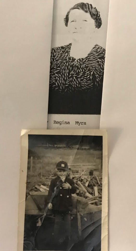 Doug was able to locate these lovely old photos of Nanny Myra and himself as a young boy; dating back to 1941.