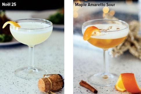 Noël 25 and Maple Amaretto Sour