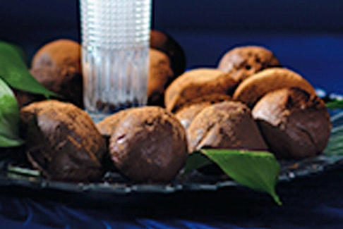 Chocolate and Spiced Rum Truffles