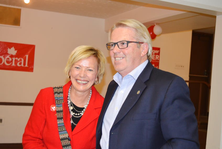 Cape Breton-Canso MP Rodger Cuzner seen with his wife, Lynn, on election night in October 2015. Cuzner announced Friday morning that he's retiring from federal politics after serving as member of Parliament since 2000.