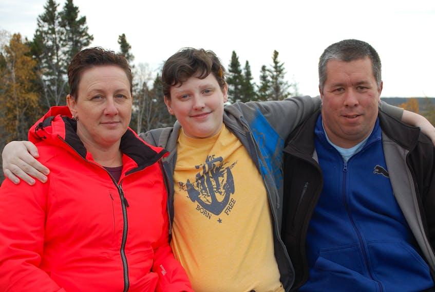 Rita Giles, Lucas Seaward and Chad Giles.