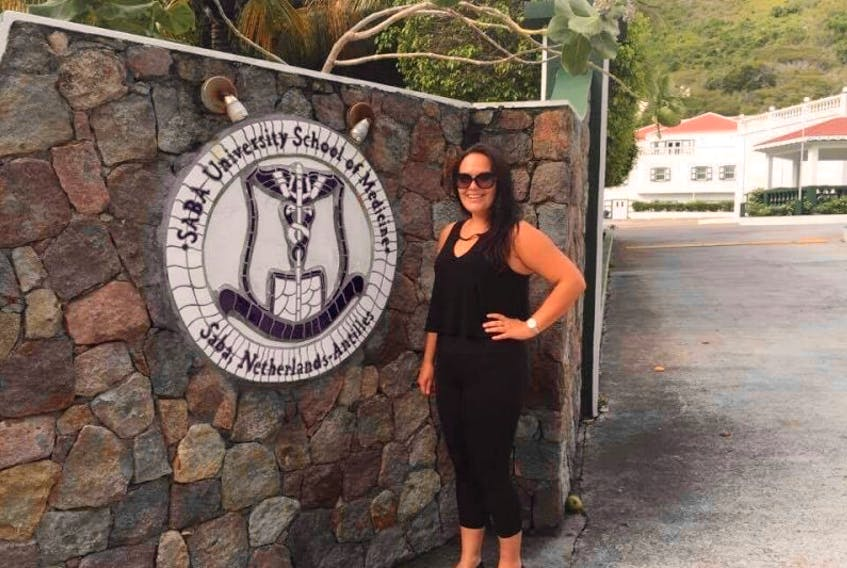 Katie Strong of Lethbridge is currently a student at the Saba University School of Medicine on Saba.