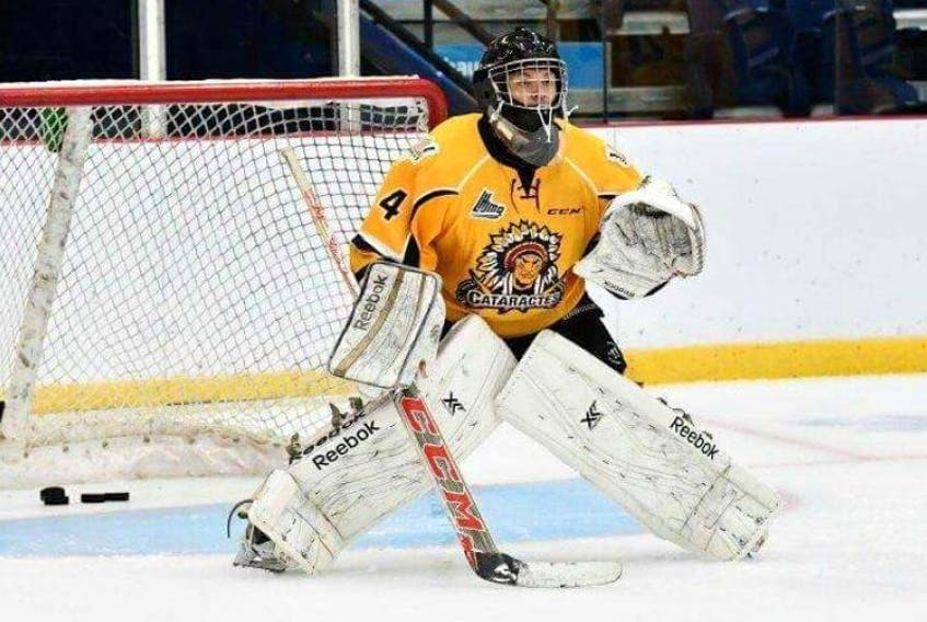 Tristan Gray at the QMJHL team Shawinigan Cataractes' training camp.
